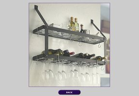 localizethis wine wall org hang industrial hanging mounted rack inside glass racks on designs