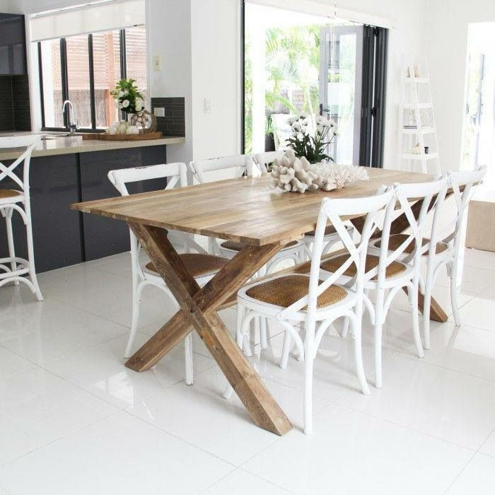 Superb White Cross Back Dining Chairs
