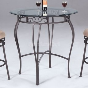 Wrought iron counter height table