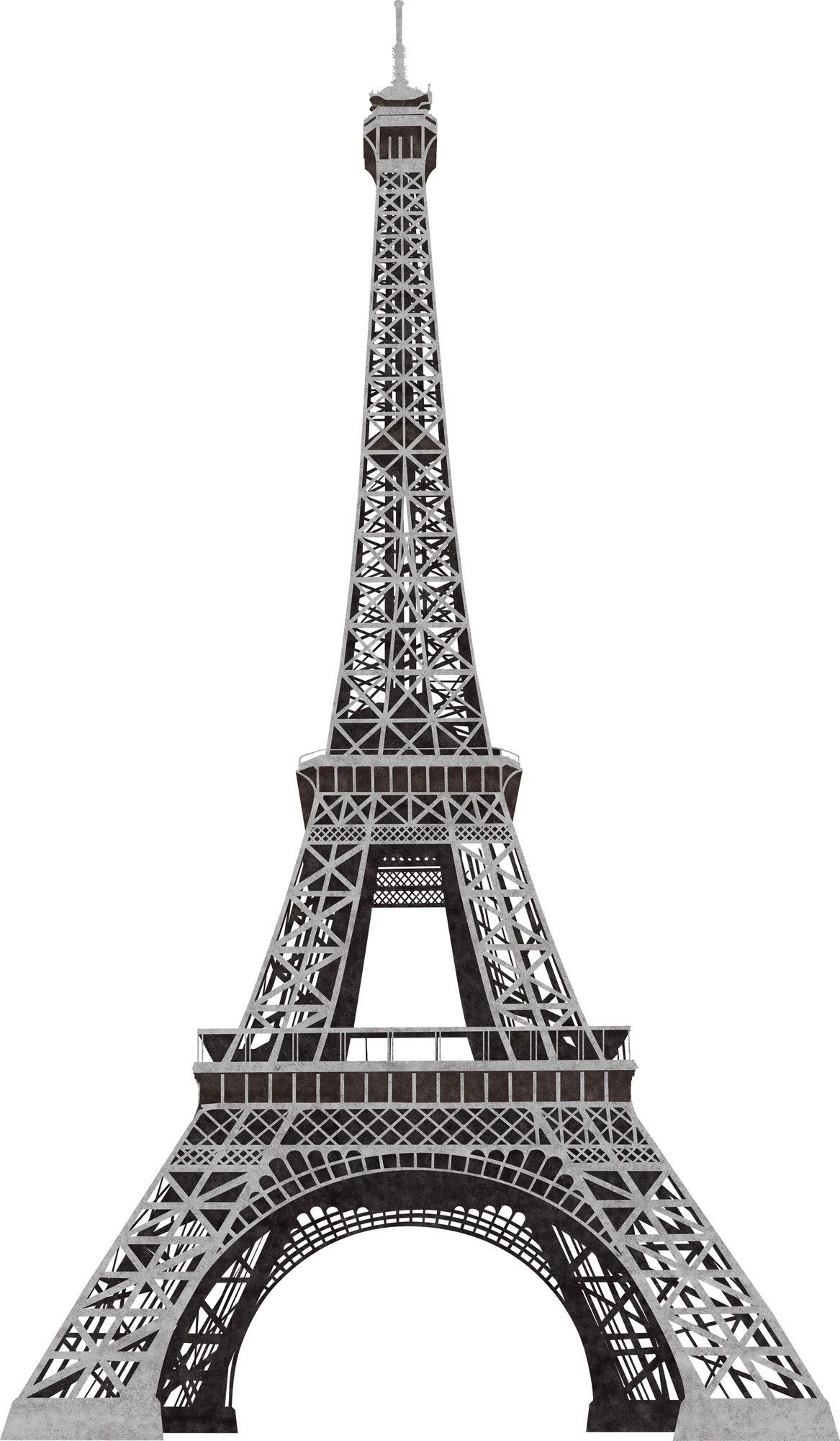 13 Piece Eiffel Tower Giant Wall Decal