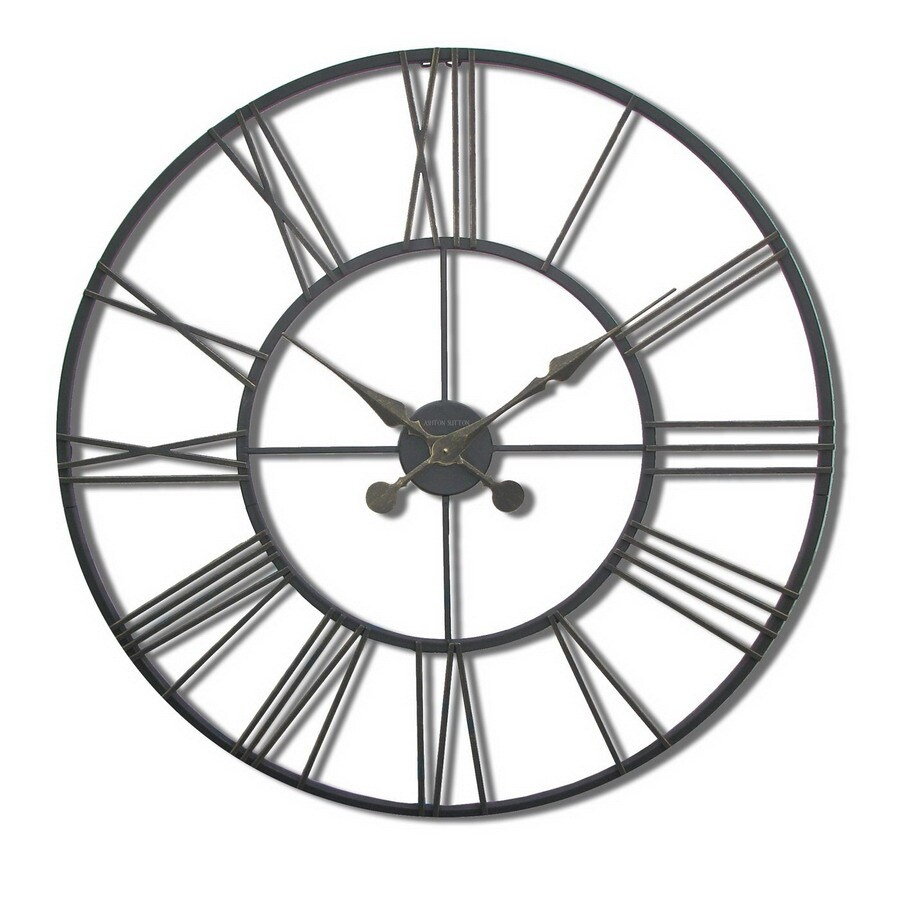 Ashton sutton oversize metal wall clock