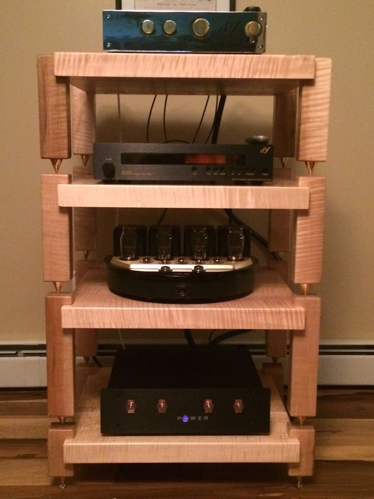 Black Stereo Cabinet