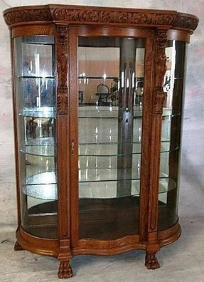 Buffet cabinet with glass doors
