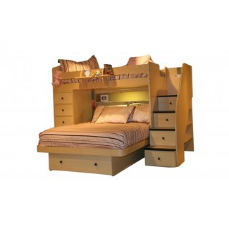 Bunk bed with full on bottom