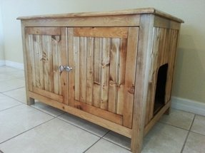 Cat litter box furniture diy