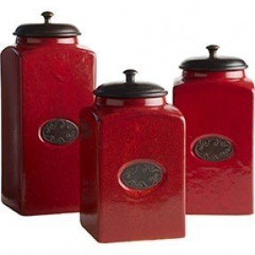 red canisters for kitchen ceramic kitchen canisters sets foter 21428