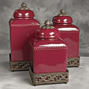 Ceramic Kitchen Canisters Sets 1