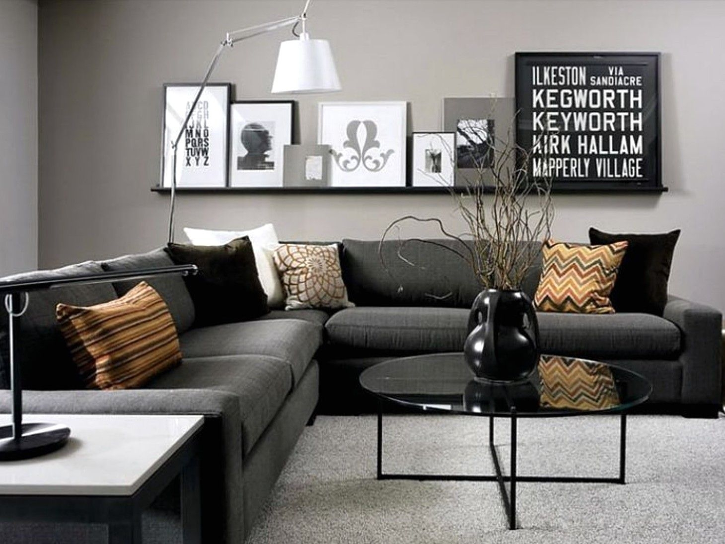 Charcoal Sectional Sofa