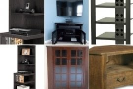 Captivating Corner Audio Cabinet