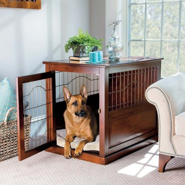 Beau Coventry Wood/Metal Pet Crate Table Large   Improvements