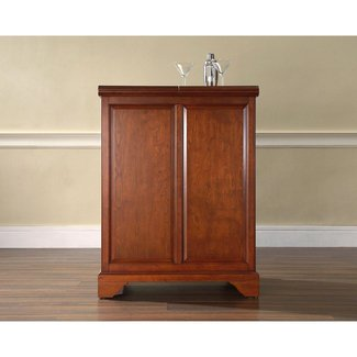 Crosley Lafayette Expandable Bar Cabinet In Clic Cherry