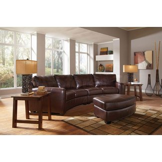 Curved Reclining Sofa - Foter