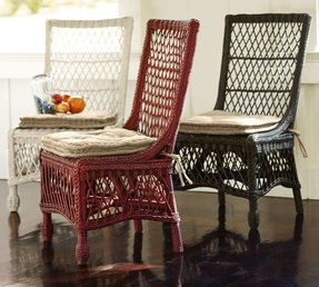 Delaney woven rattan dining chair 6