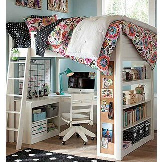 Double loft bunk beds