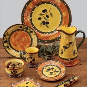 French olive dinnerware 7
