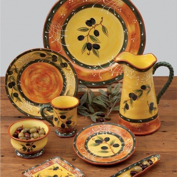 French olive dinnerware 7 : french tableware pottery - pezcame.com