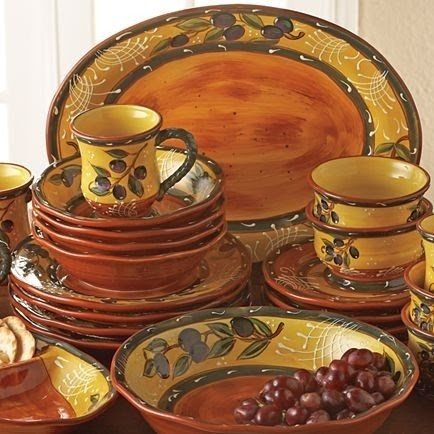 French olive dinnerware & French Olive Dinnerware - Foter