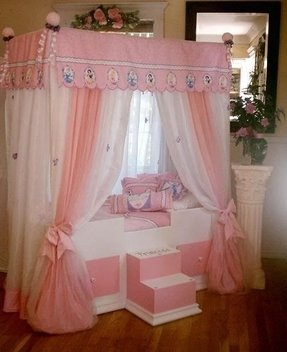Girl canopy bedroom sets