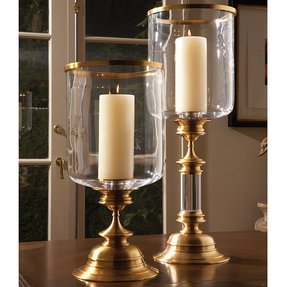 Global views estate hurricane candle holder