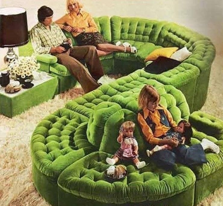 Green Sectional Sofa 2
