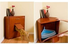 Hidden cat litter box furniture 1