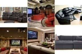 Home theater sectional seating