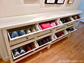 Ikea hack shoe storage