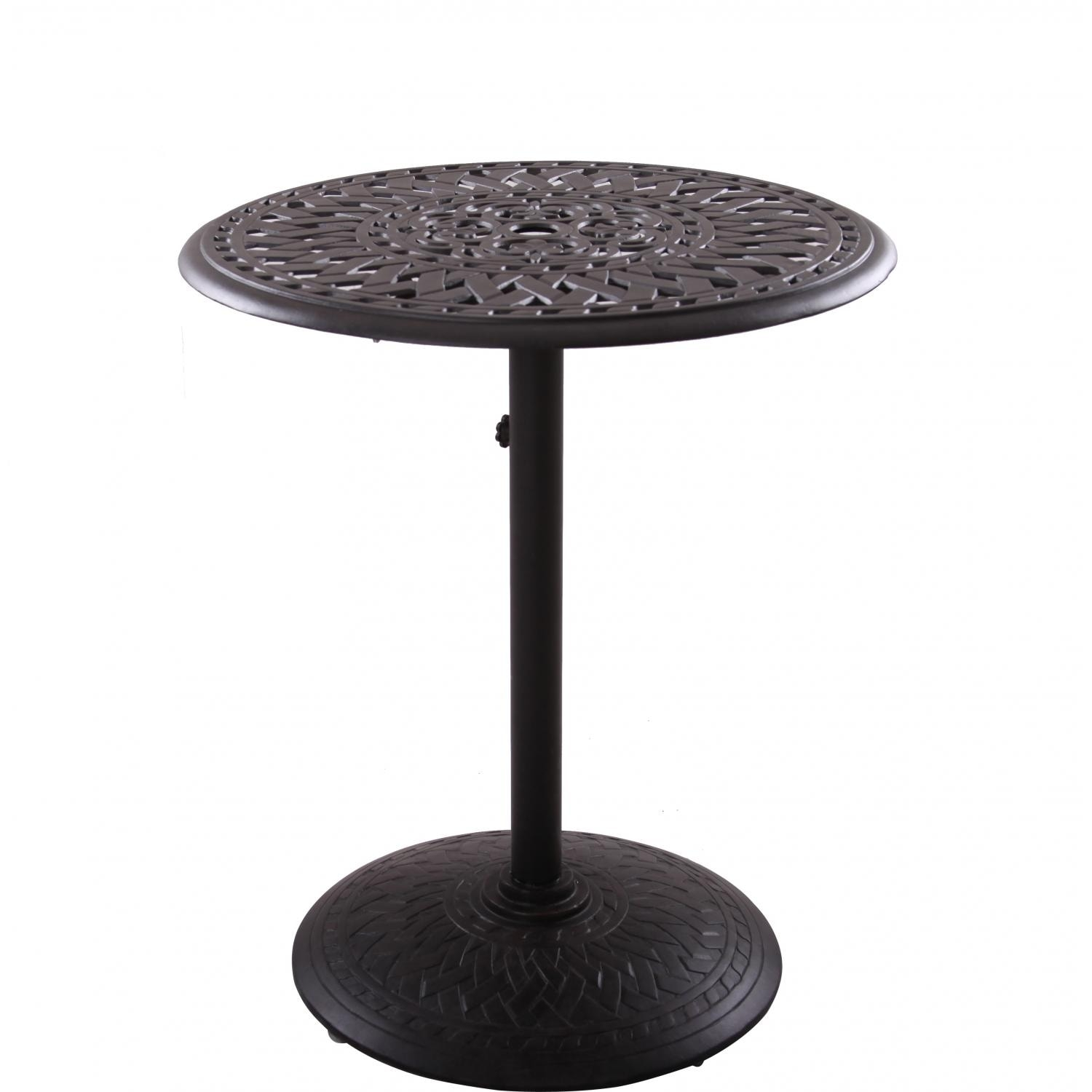 Ordinaire An Elegant Contemporary Bar Table Of Weatherproof Cast Aluminium With A  Dark Bronze Finish. The Table Has A Round Convex Foot With Embossed  Geometric ...