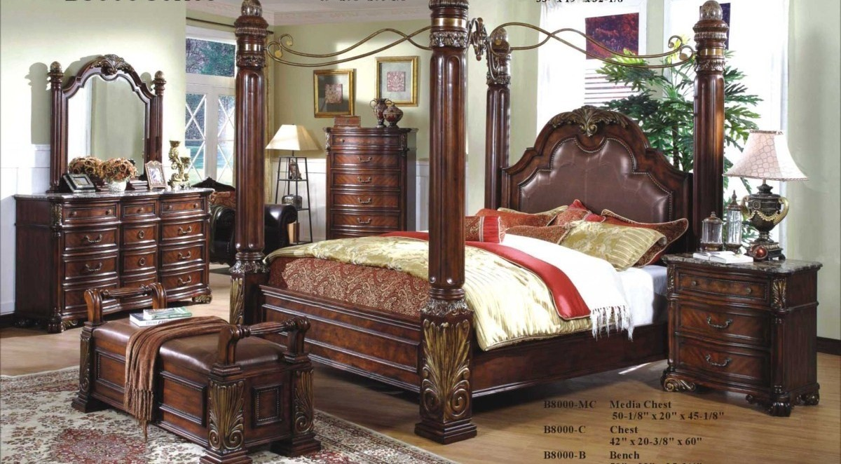 King Size Bed Frame With Posts