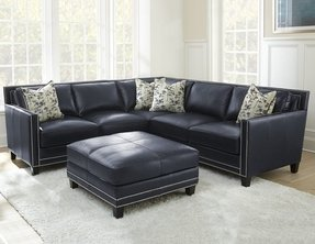 Leather nailhead sectional 1