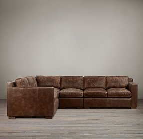 Leather nailhead sectional 9