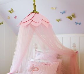 Little girl canopy bed curtains