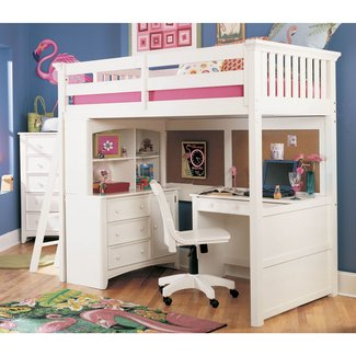 Loft Bed With Dresser