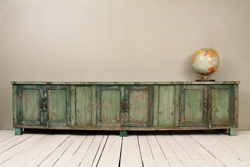 Long and low reclaimed antique sideboard