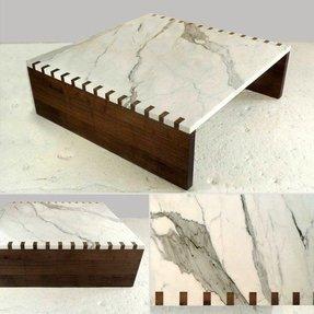 Marble Wood Coffee Table