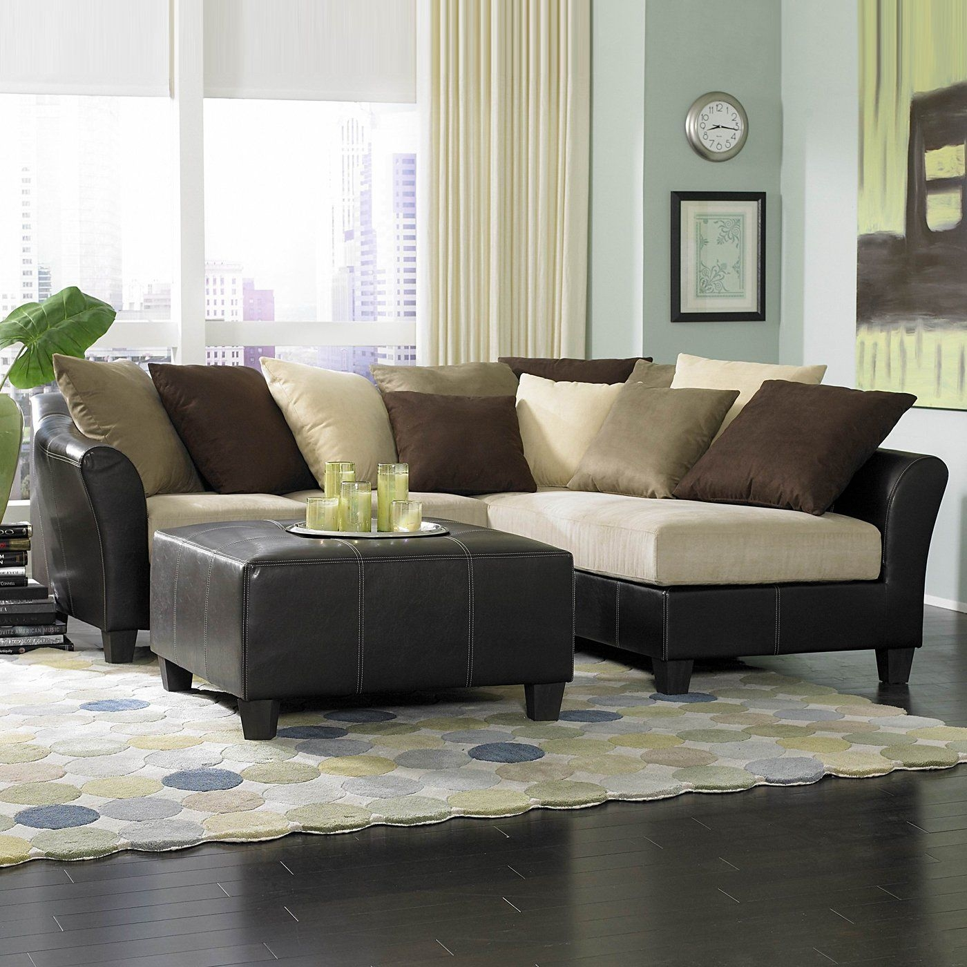 Modern Microfiber Sectional Sofa 2