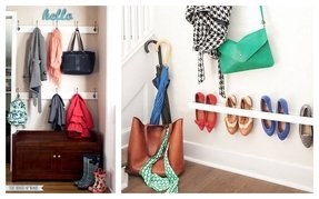 Narrow shoe storage