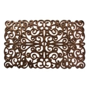 Natural Rubber Bronze Scroll Doormat
