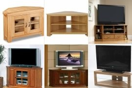Oak Corner Tv Stands For Flat Screens