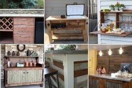 Attirant Outdoor Bar Cabinet