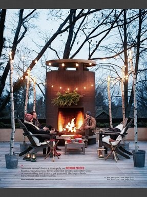 Outdoor metal fireplace 1