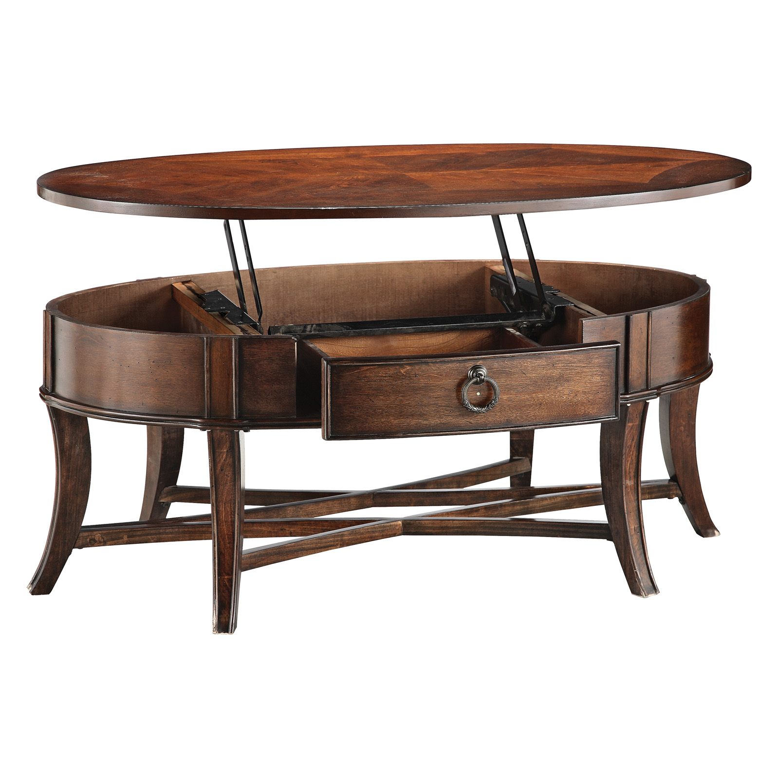 Captivating Oval Coffee Table With Storage