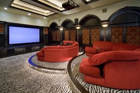 Reclining theater sectional