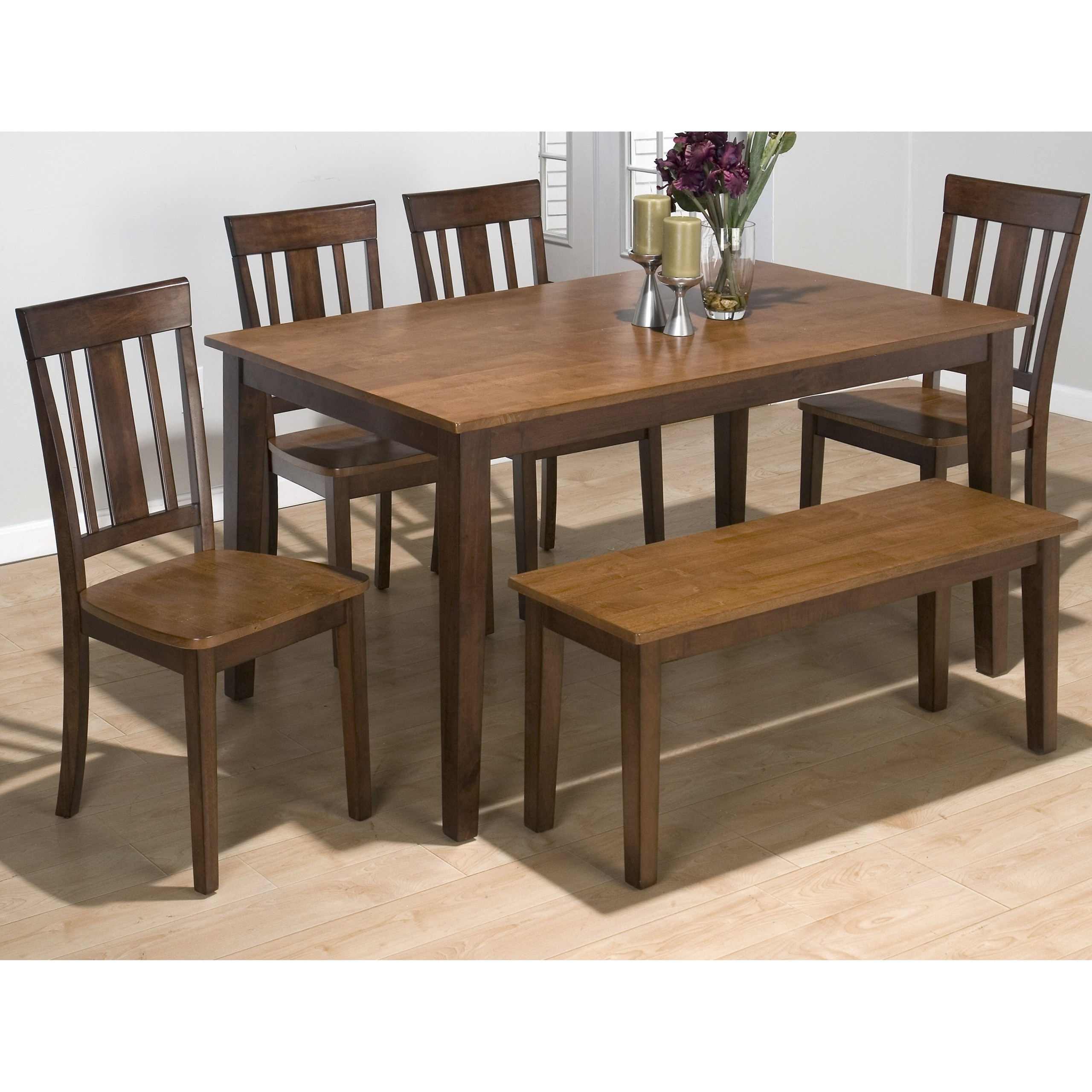 Charmant Rectangle Dining Table With Bench 1