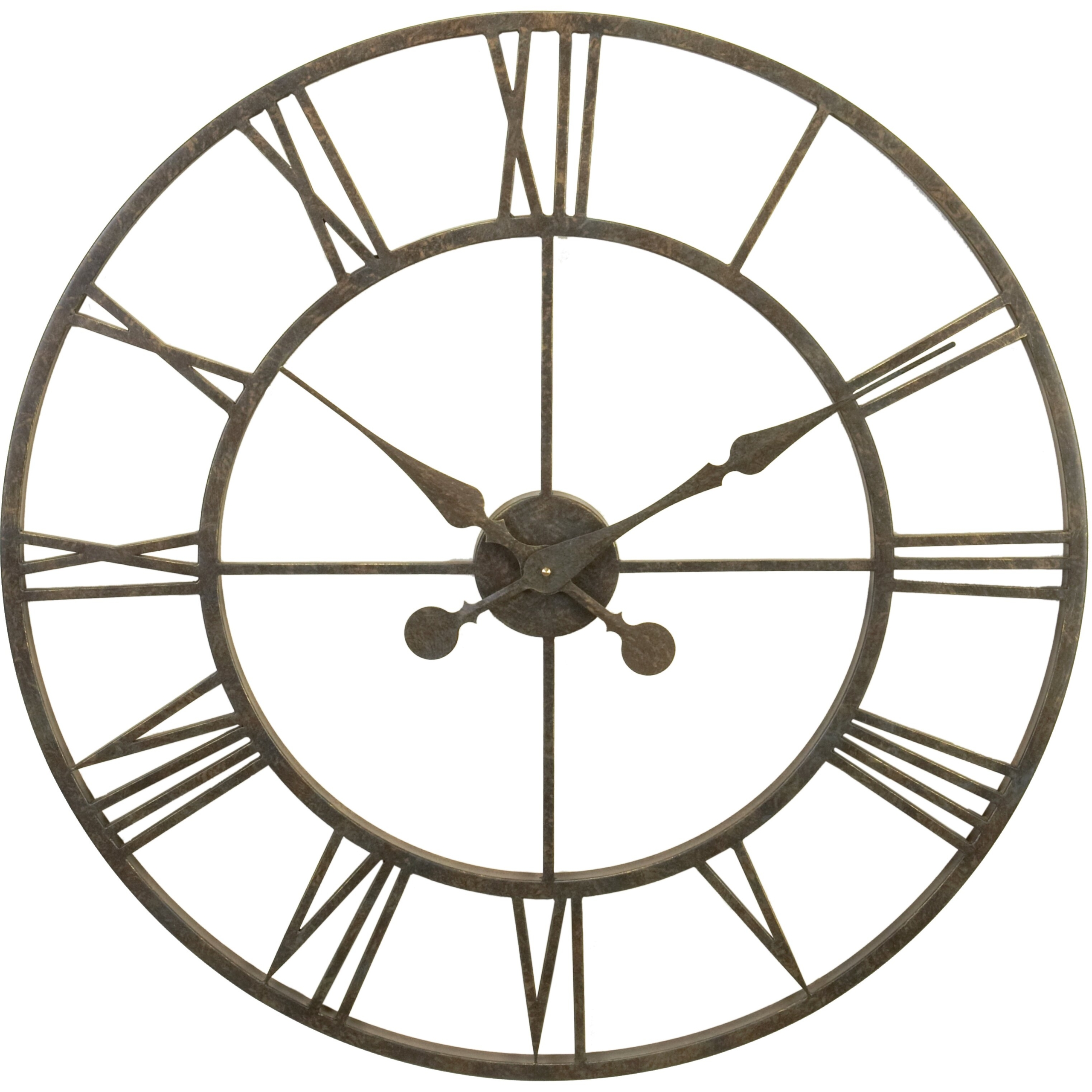 River city clocks indoor metal skeleton tower wall clock