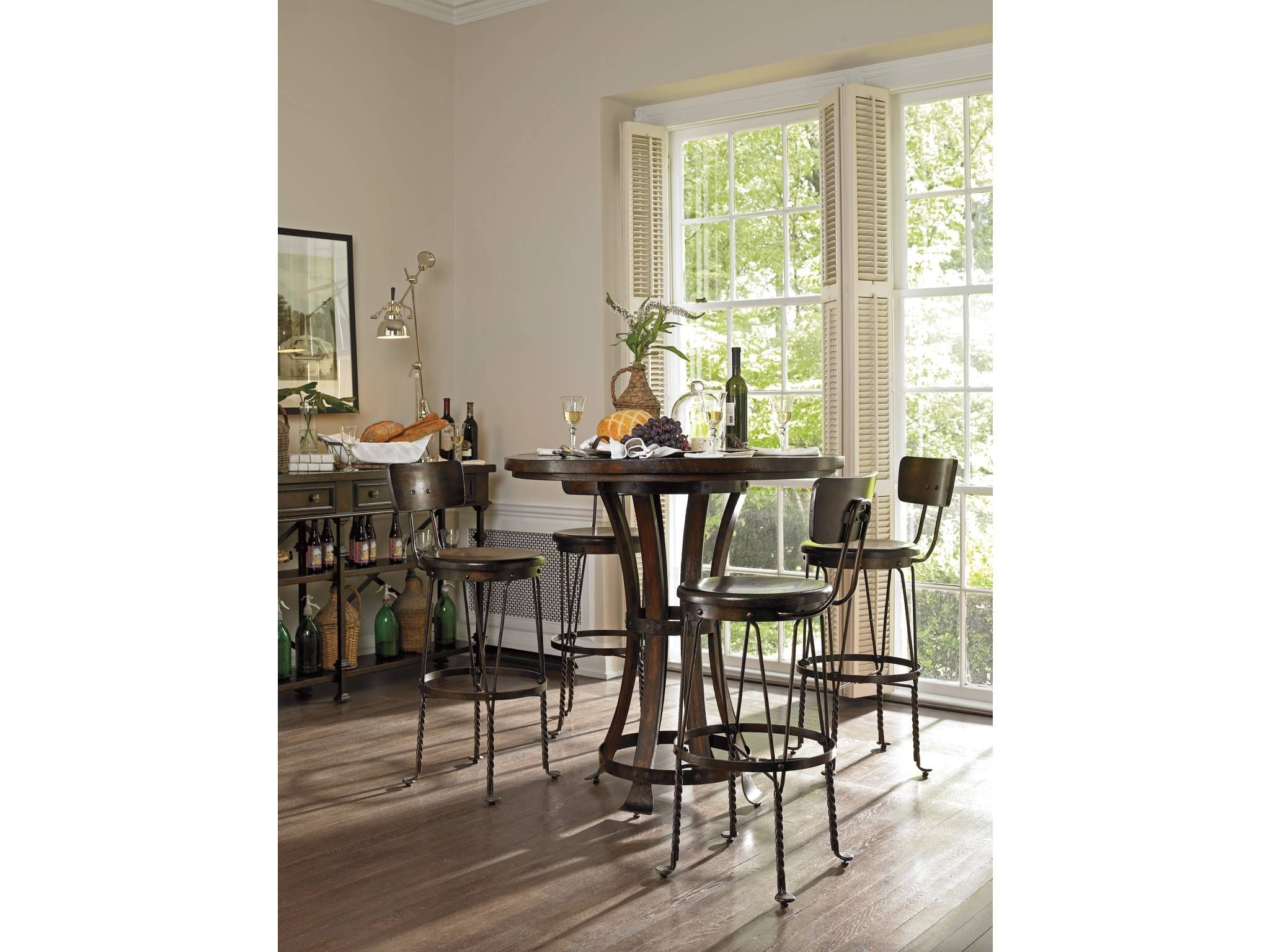 Round bar table set & Round Pub Table Set - Foter