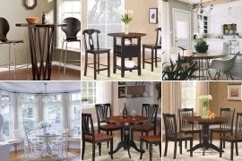 Dining nook furniture Bay Window Round Breakfast Nook Table Foter Round Breakfast Nook Table Ideas On Foter