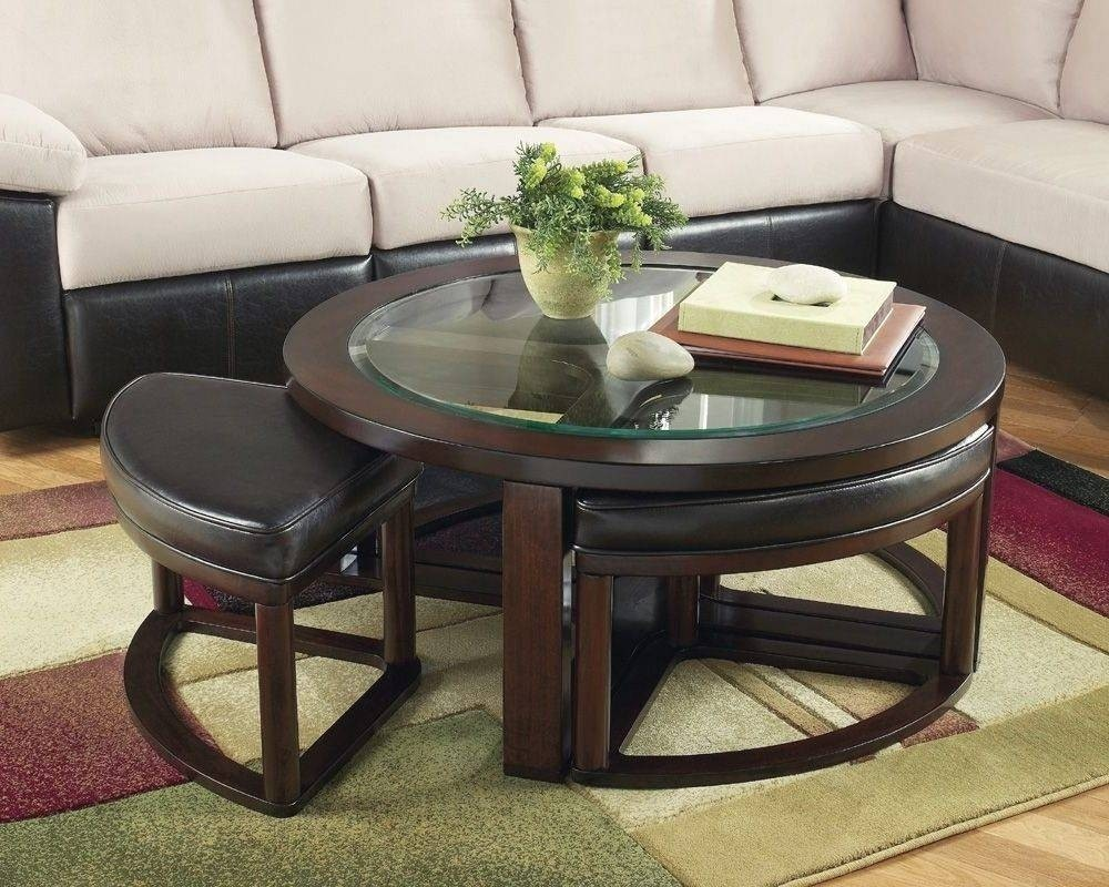 Superb Round Coffee Table With Stools