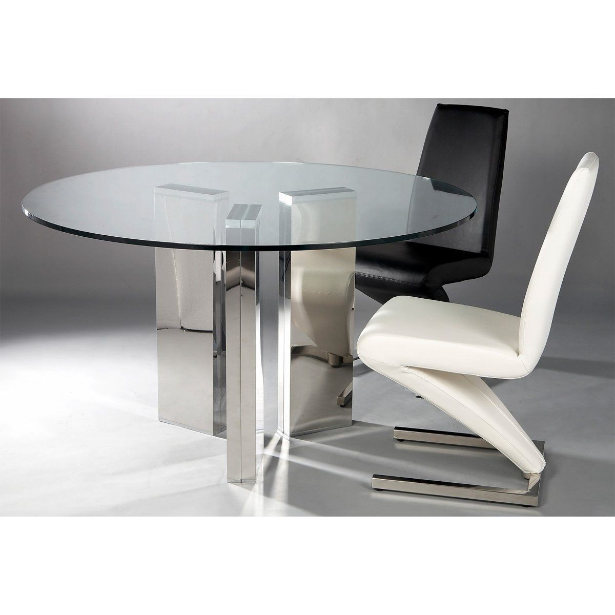Round Glass Top Dining Sets   Foter