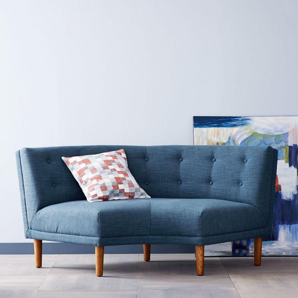 Beau Rounded Retro Curved Sofa
